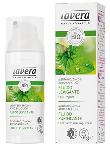 Lavera Fluido Purificante - Menta bio, zinc & ácido salicílico - vegano - cuidado facial biológico - cosméticos naturales 100% certificados - cuidado de la piel - 50 ml