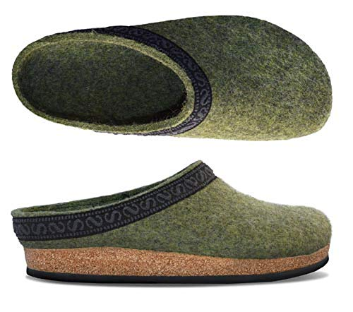 Stegmann 108, Unisex-Erwachsene Pantoffeln, Grün (Olive 8826), 37 EU