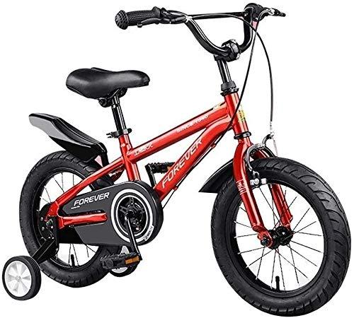 Bici per Bambini Le ragazze dei ragazzi Kids Bike BMX Freestyle 2 mano Freni biciclette con rotelle di addestramento bicicletta bambino 12' 14' 16' 18 con stabilizzatori e cestini della bicicletta for