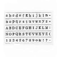 アルファベットスタンプクリアミニゴム印クラフトカードスタンプスクラップブックプランナー