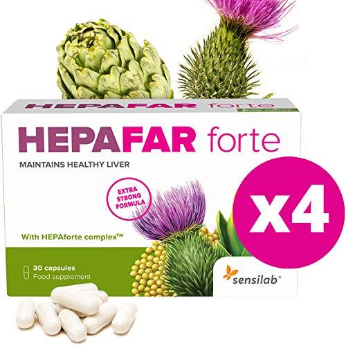 Hepafar Forte   Mariendistel, Artischocke, Löwenzahn Komplex   120 Kapseln hochdosiert   mit Vitamin E, Phospholipide   Innovative patentierte Formel mit hoher Bioverfügbarkeit