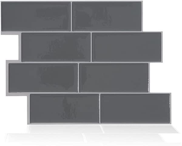 LKXHarleya 1 PCS 3D Grey Brick Subway Tile Peel And Stick Backsplash Kitchen Subway Contact Paper Wall Decals Self Adhesive DIY Home Wallpaper 11 42 X8 27