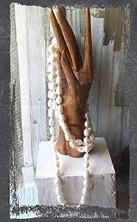 Collar de perlas naturales de rio,hecho a mano, artesanal, largo, regalo de navidad