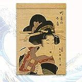 Persianas Enrollables De Bambú Persianas Romanas De Bambú Persianas De Privacidad Persianas De Madera - Impresión De La Belleza De La Dinastía Tang Persiana Enrollable De Bambú Pintura con Tinta
