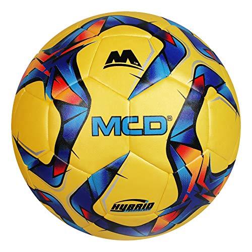 MCD SPORTS Fußballtraining Fußball Größe 3 4,5, Hybrid-Leichtgewicht-Übungsfußball für Jungen und Mädchen, Profi-Clubteam-Fußball im Innen- und Außenbereich (5, Ringo Gelb)