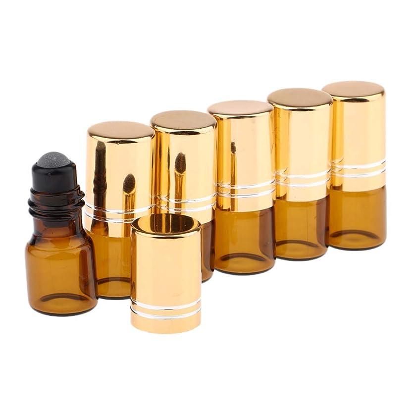 対確執追放CUTICATE ロールオンボトル ガラス容器 化粧品ボトル 2ml 詰め替え 精油 液体 小分け用 保存 6個 全3色 - 金のふた