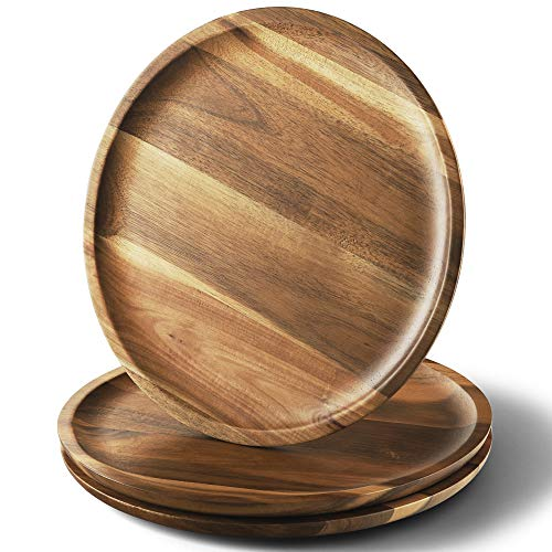 acacia wood plates - 2