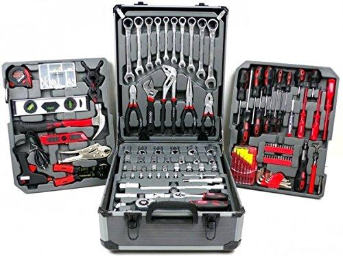Verktygssats 186 delar verktygsväska HÖFFTECH verktygsvagn verktygslåda