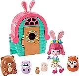 Enchantimals Bree Bunny y Cabaña Muñeca con mascota matrioska sorpresa y cabaña de juguete (Mattel G...
