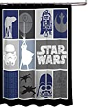 Star Wars Classic Quilt Microfiber 70' X 72' Fabric Shower Curtain