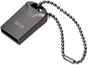 Memorias USB 32GB, Mini Pen Drive 32GB USB Stick Metal Impermeable USB Flash Drive 32 GB con Llavero Colgante para Almacenamiento de Datos Externo