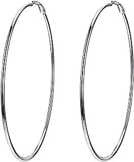 Trendy Womens Creole Hoop Earrings Gold/Black/Stainless Steel Loop Ear Dangle Circle Fashion Jewelry