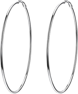 Trendy Hoop Earrings for Women, Hypoallergenic Stainless Steel, Black/18K Gold Plated, Statement Jewelry, Gift for Her