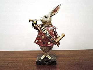 トランプラビット L うさぎ 兔 置物 かわいい おしゃれ オブジェ 大人 アンティーク クラシック レトロ インテリア雑貨