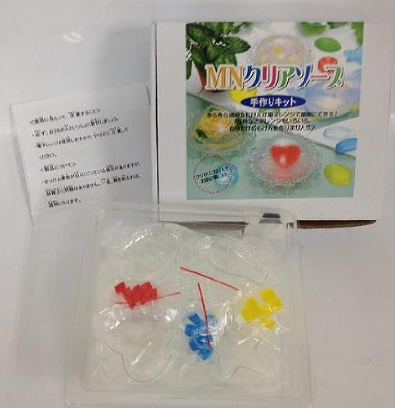 自分のマーク習慣手作り石鹸キット クリアソープ(簡単工作かわいい石鹸が作れてプレゼントも喜ばれます)