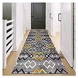Mat de la puerta Long Hallway Hall Alfombra Antideslizante Suelo de cocina Moderno Corredor de alfombras grises para pasillo, corredor de pasillo del pasillo de la entrada del corredor, piso extra aju