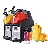Commercial Slushy Machine - Juice Smoothie Margarita Frozen Drink Machine Ice Slush Machine, Cooling Beverage Making Machine for Milk-Tea Stores, Restaurant - 2.5L×2