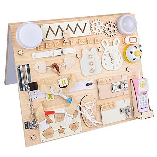 Pannelli occupati Giocattolo per Il Bambino per Il Bambino, Tavole occupati in Legno per Il Bambino Montessori Basic Abilità motoria attività attività Board Educational Learning Toy for Kids