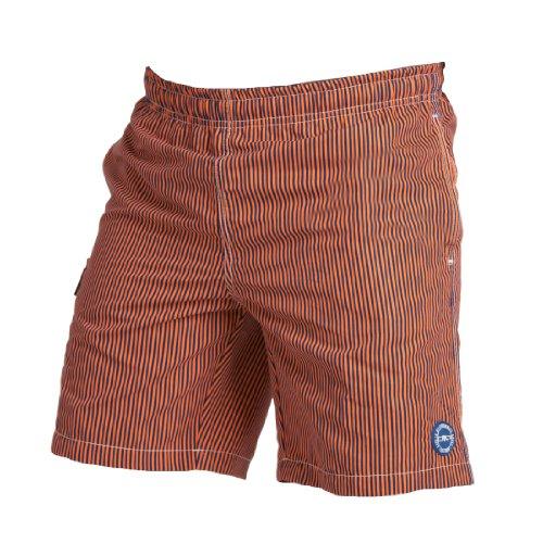 CMP - F.LLI Campagnolo Short de Bain pour garçon 5-6 Ans Orange - Orange/Bleu