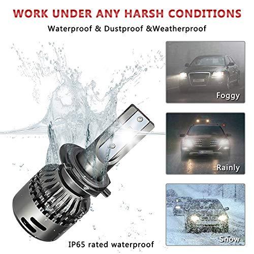Kit ampoule de phare à LED - 12V Hi/Lo LED 9003 Haut et bas pour voiture, puce COB, kit de phare, ampoule halogène ou de remplacement automatique de la lampe