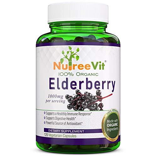 NutreeVit 100% Organic - Elderberry Powerful Superfood Formula (320 Capsules)