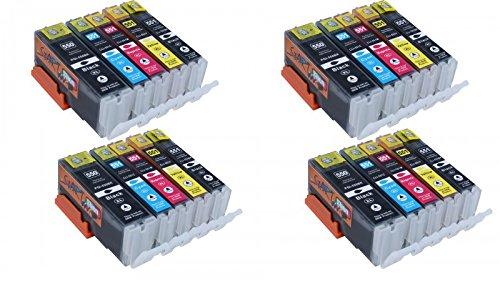 Start - 20 Cartucce d'inchiostro compatibili per Canon PGI-550XL CLI-551XL Alta Capacita Compatibile con Canon PIXMA MG5450 MG5550 MG5650 MG6350 MG6450 MG6650 IX6850 MG7150 MX725 IP7250 MX925