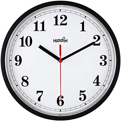Yoobure 10 Silent Quartz Decorative Wall Clock Non-Ticking Classic Digital Clock Battery Operated...