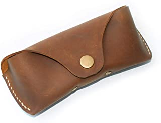 YAN TA Leather Glasses Case Handmade Vintage Sunglasses Bag