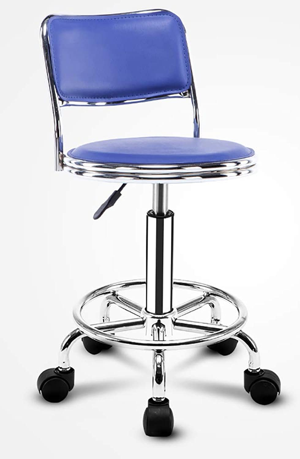 Bar Lift Swivel Chair, Fashion Beauty Back Round high Stool-bluee