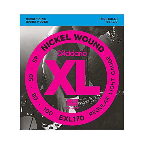 d'Addario EXL170 - Juego de cuerdas para bajo eléctrico de níquel, Plateado,...