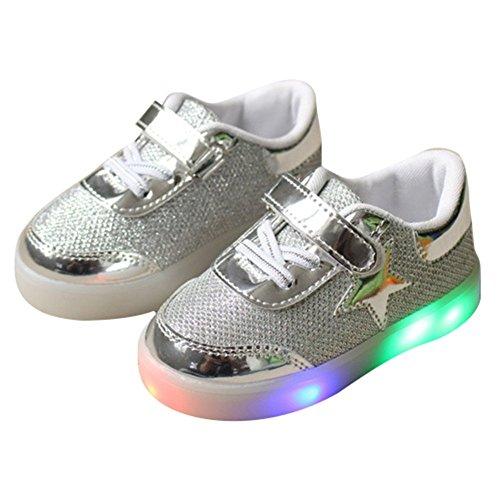 BAINA Jungen & Mädchen LED Licht Schuhe Kinder Luminous Blinkende Sport Sneakers