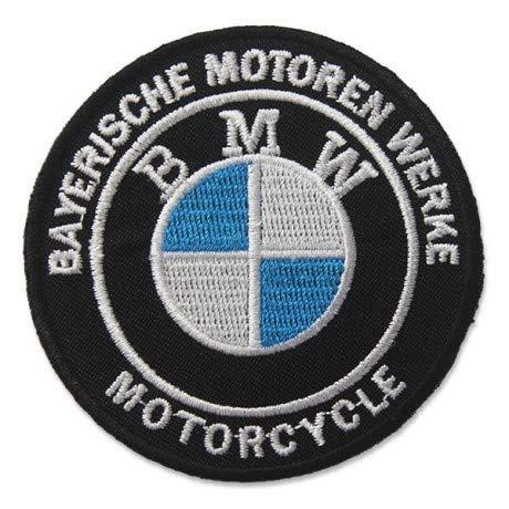 B.M.W. MOTORCYCLES LOGO 7,6 CM Parche, Parches Termoadhesivos,Parche Bordado Para la Ropa Termoadhesivo