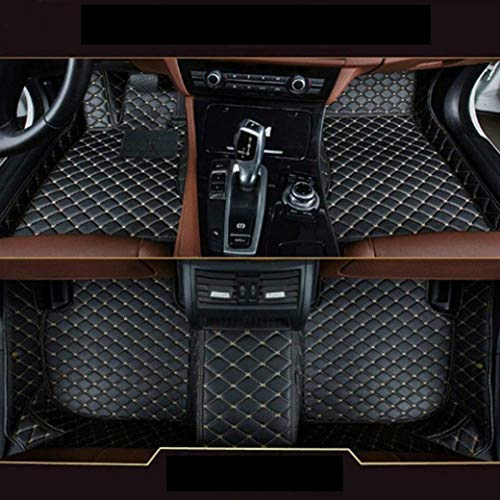 8X-SPEED Custom Car Floor Mats Fit for BMW 7 Series G11 G12 740i 740Li 750i 750Li 5-Seat 2016-2018 Full Coverage All Weather Protection Waterproof Non-Slip Leather Liner Set Black
