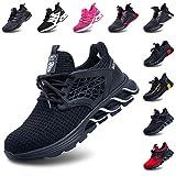 Zapatos De Seguridad Hombres Zapatillas De Trabajo con Punta De Acero S3 Calzado Mujeres Reflectante Cómodo ESD Botas Construcción Industria SRC Negro 44