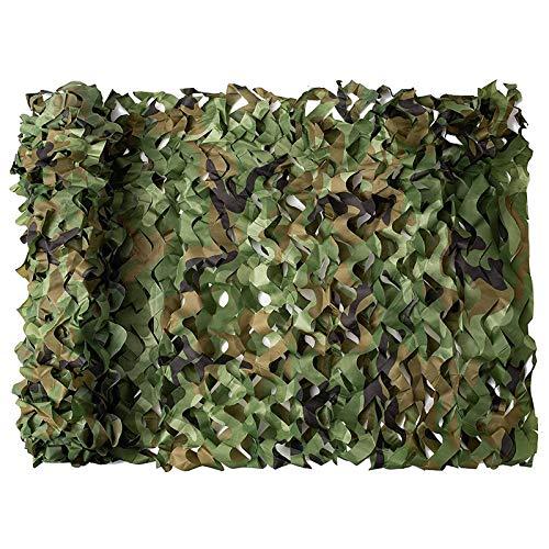 Hezhu 3 x 5 m Tarnnetz, Camouflage Netz, Forest Landscapes Tarnung Net, Armee Tarnung Net, Camouflage Deko Outdoor für Sonnenschutz, Garten, Freizeit, Camping, Party, Bars, Jagd