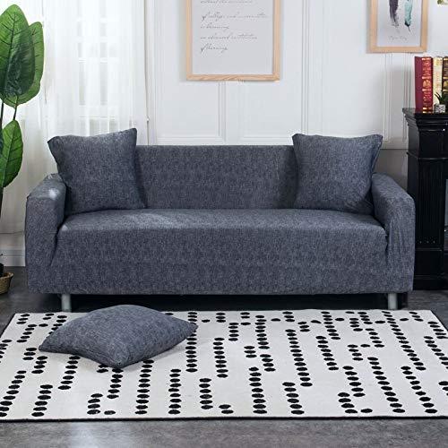 WXQY La Funda de sofá elástica Envuelve la Funda de sofá Antideslizante con Todo Incluido, Utilizada para el sofá Modular de la Sala de Estar, Funda de sofá de Toalla A16 de 2 plazas