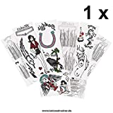 1 x ensemble de tatouage complet Amy Winehouse - 13 motifs sur 4 cartes - Cosplay Carnival (1)