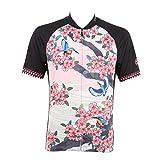 (パールイズミ)PEARL IZUMI サイクリング ジャージ プリントジャージ S621B[メンズ] 10 桜と翡翠(カワセミ) L