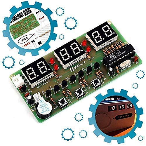 Icstation 6-bit Digital Clock Soldering DIY Practice Kits for School Science Project Soldering Student STEM Project for Learning Teaching Electronic Knowledge