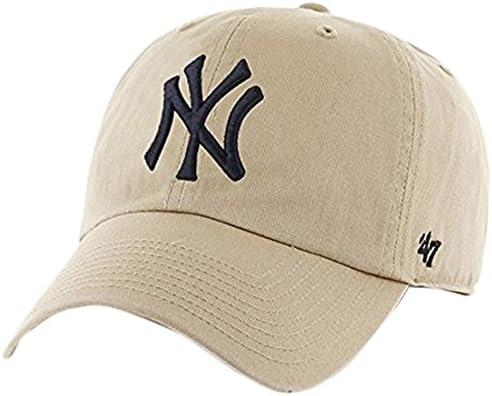 MLB New York Yankees Men s 47 Brand Clean Up Cap Khaki One Size product image
