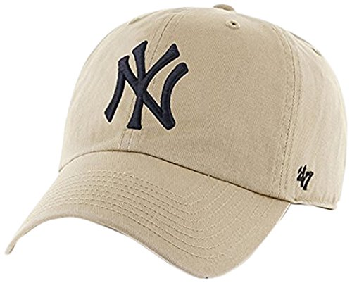 MLB New York Yankees Men's '47 Brand Clean Up Cap, Khaki, One-Size