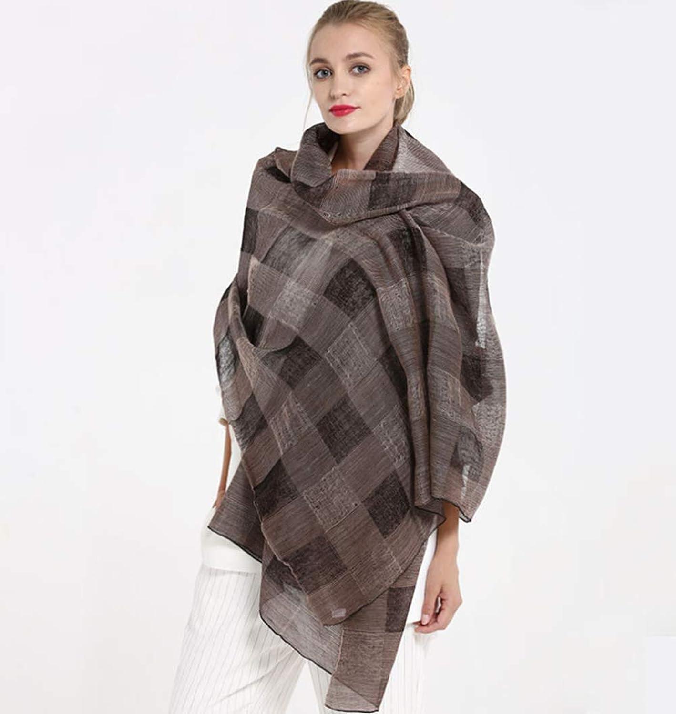 190  80cm Ladies Shawl Cashmere Autumn Check Wool Scarf Scarves,B,M