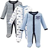 Luvable Friends Unisex Baby Cotton Preemie Sleep and Play, Airplane, Preemie