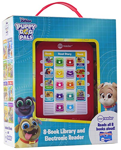 Disney Puppy Dog Pals - Me Reader Electronic Reader with 8 Book Library - PI Kids