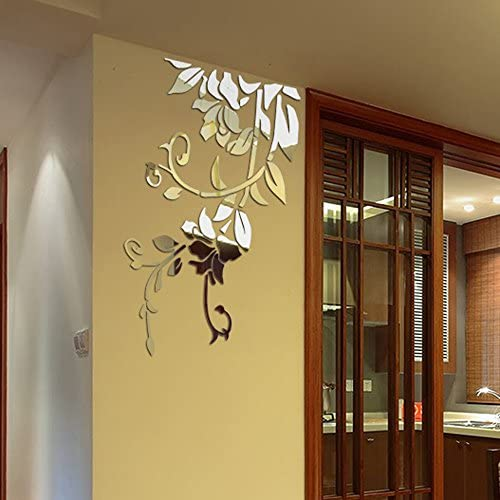 3d mirror wall decal _image1