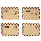 Zhi Jin Lot de 100enveloppes vintage, motif poste aérienne, lettre enveloppes, coffret cadeau pour poster carte de vœux, de voyage Kraft