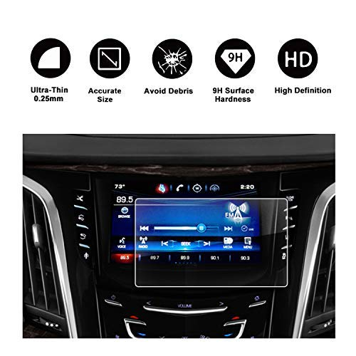 Amazon Com 2015 2018 Cadillac Escalade 8 Cue Infotainment Interface 8in Cue Infotainment Interface Touchscreen Car Navigation Touch Screen Protector Tempered Glass 9h Anti Scratch And Shock Resistant Gps Navigation
