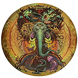 orange brown disc with elephant