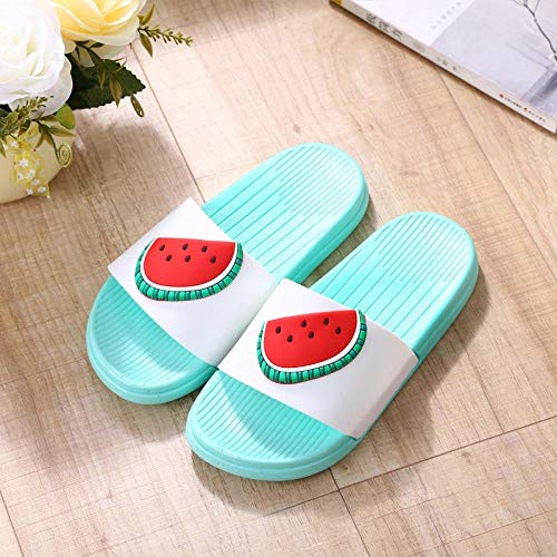 B/N Indoor Use Outdoor Use Bath Sandal,Home Slippers, Parent-Child Sandals And Slippers in Summer, Bathroom Non-Slip Men's Slippers-Watermelon_38-39
