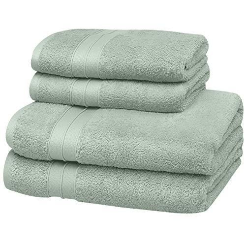 Sohyge – Juego de toallas de baño (4 piezas), 100 % algod